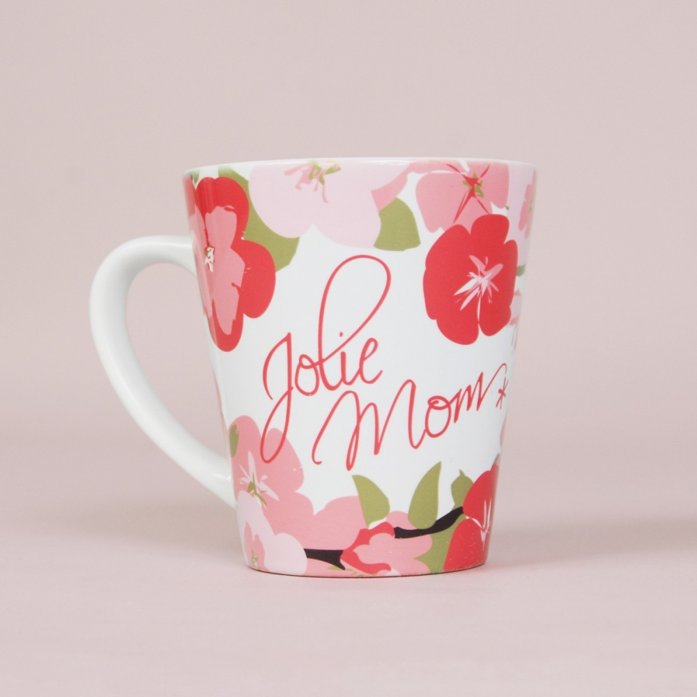 Mug à fleurs Jolie Mom*