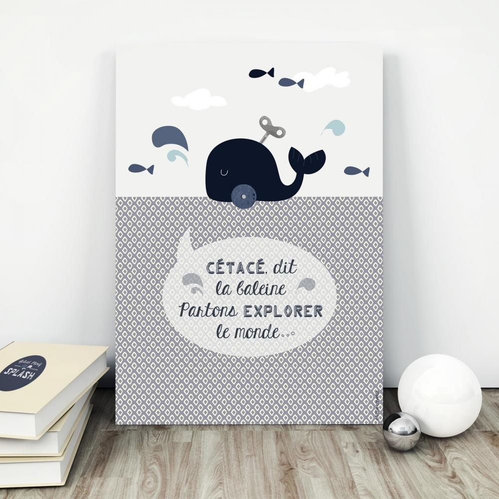 Affiche partons explorer le monde