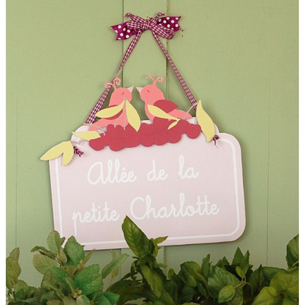 D co personnalis e plaque de porte b b fille little for Plaque de porte chambre bebe