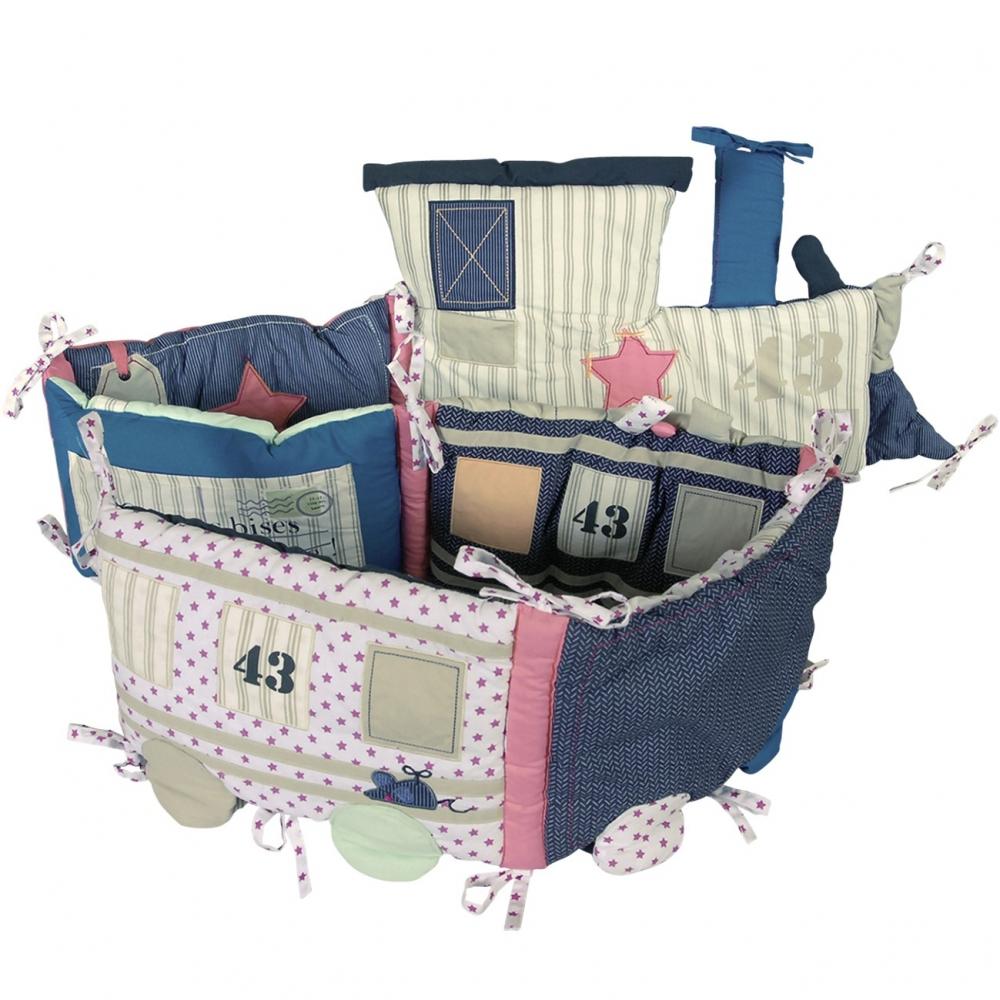 tour de lit original gar on train mini express little crevette. Black Bedroom Furniture Sets. Home Design Ideas