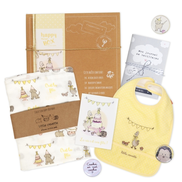 Coffret cadeau bébé original Happy Birthday - la petite box