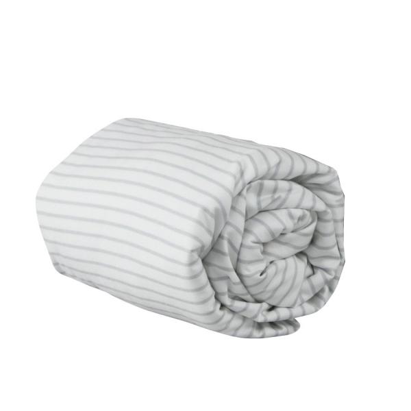 drap housse b b ray gris charlie little crevette. Black Bedroom Furniture Sets. Home Design Ideas