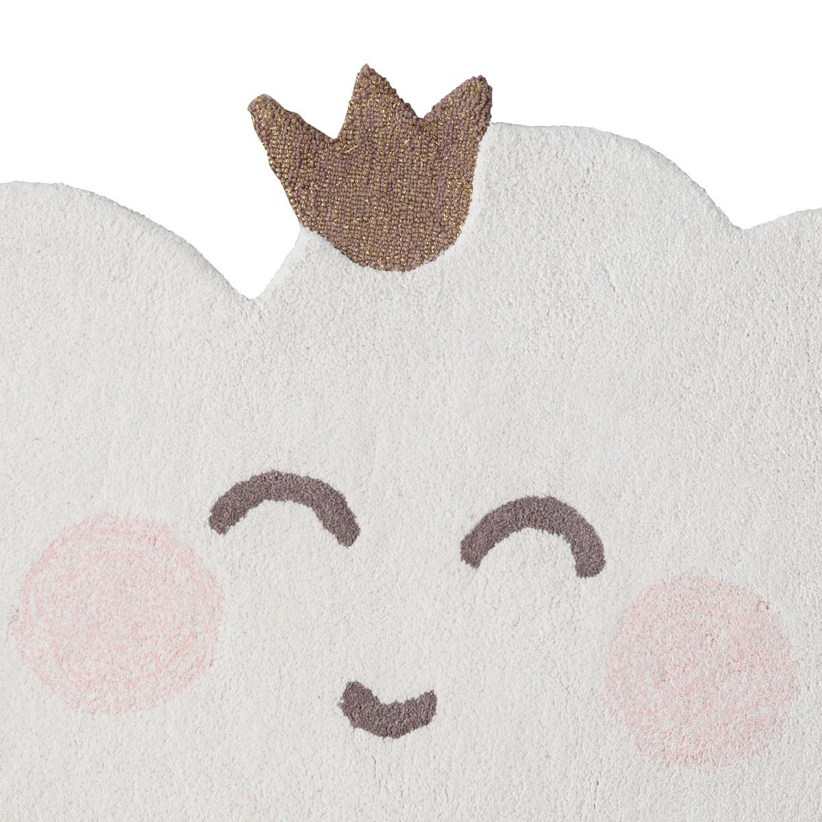Tapis Chambre Bébé Mixte tapis enfant forme nuage avec couronne | little crevette