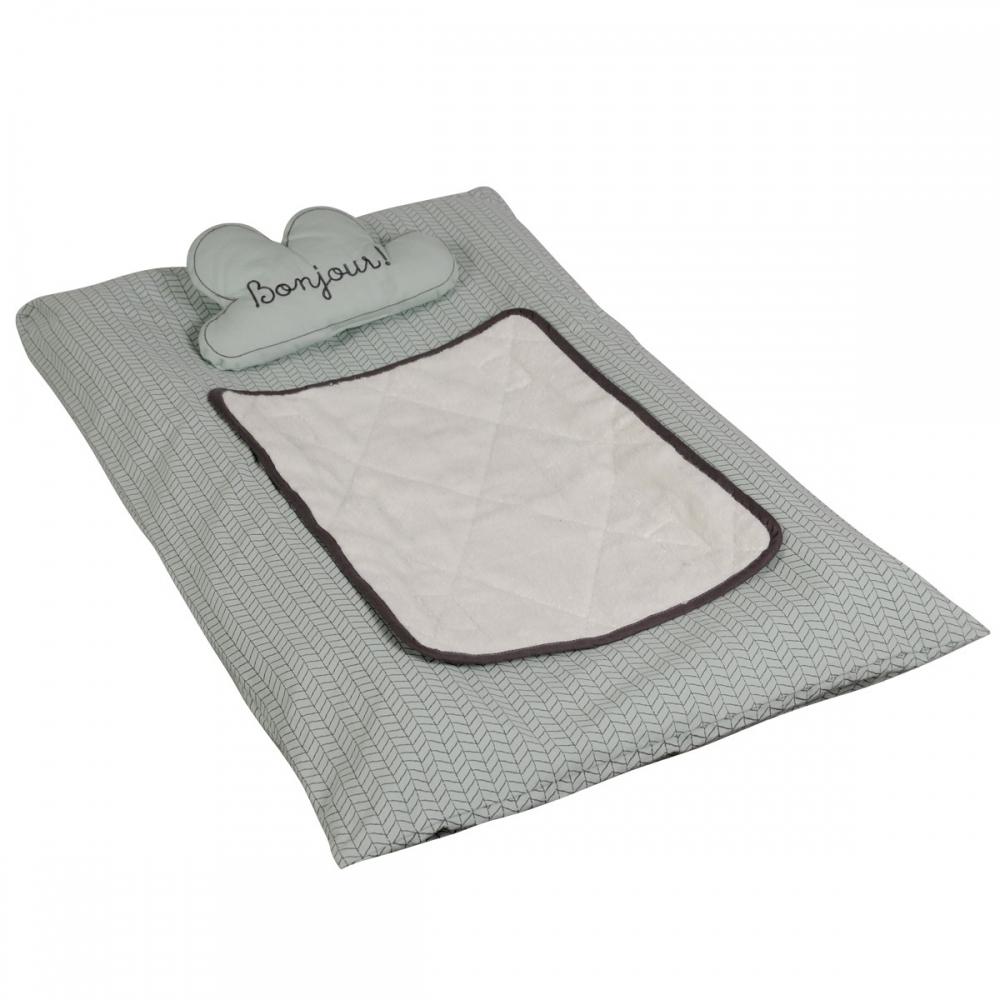 housse pour matelas langer en coton bio bonne nuit little crevette. Black Bedroom Furniture Sets. Home Design Ideas