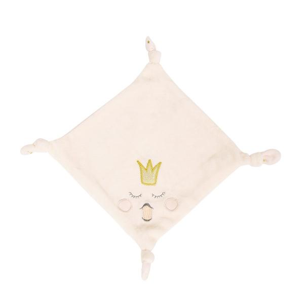 Doudou velours coton bio Princesse Swan