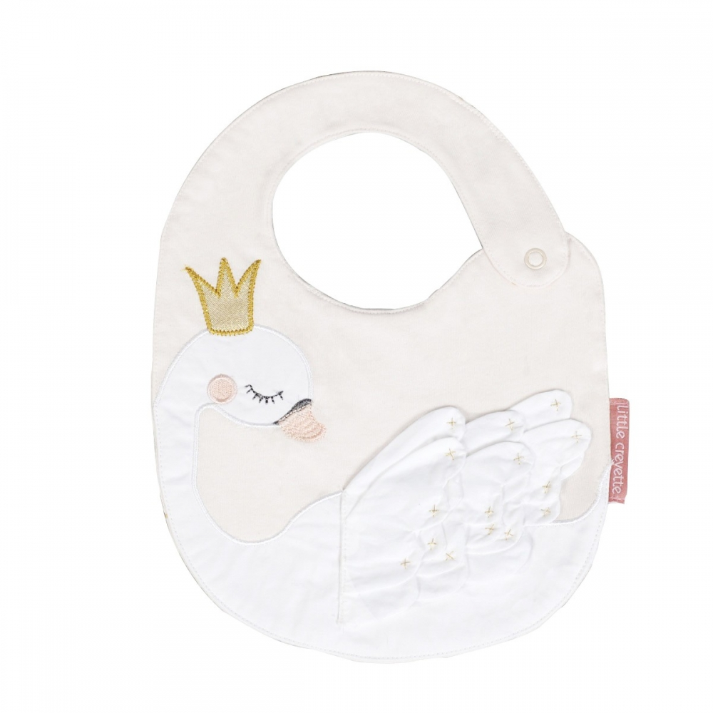 Bavoir cygne coton bio Princesse Swan