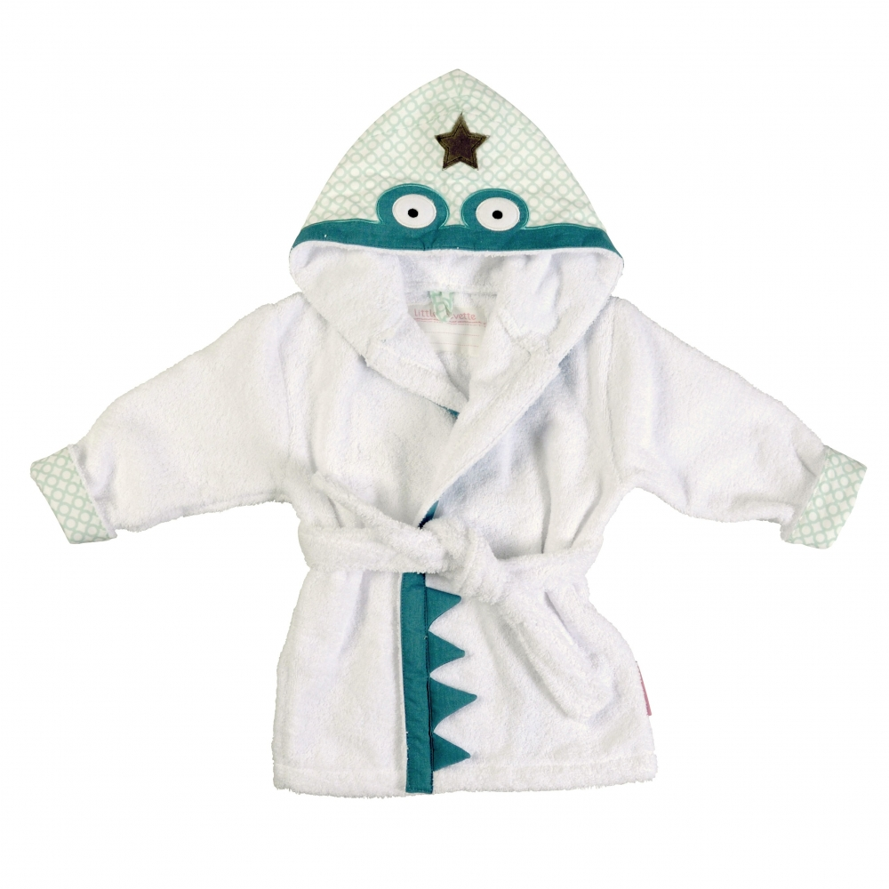 Coffret cadeau pyjama et peignoir en coton bio crocodile for Peignoir eponge garcon