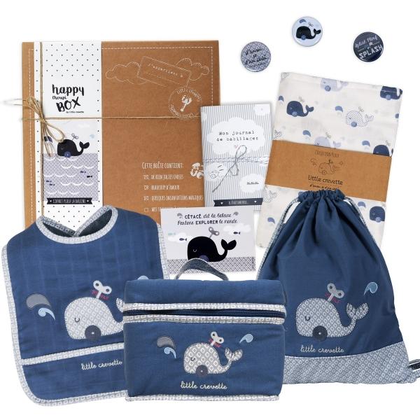 Coffret cadeau bébé Baleine - la maousse box
