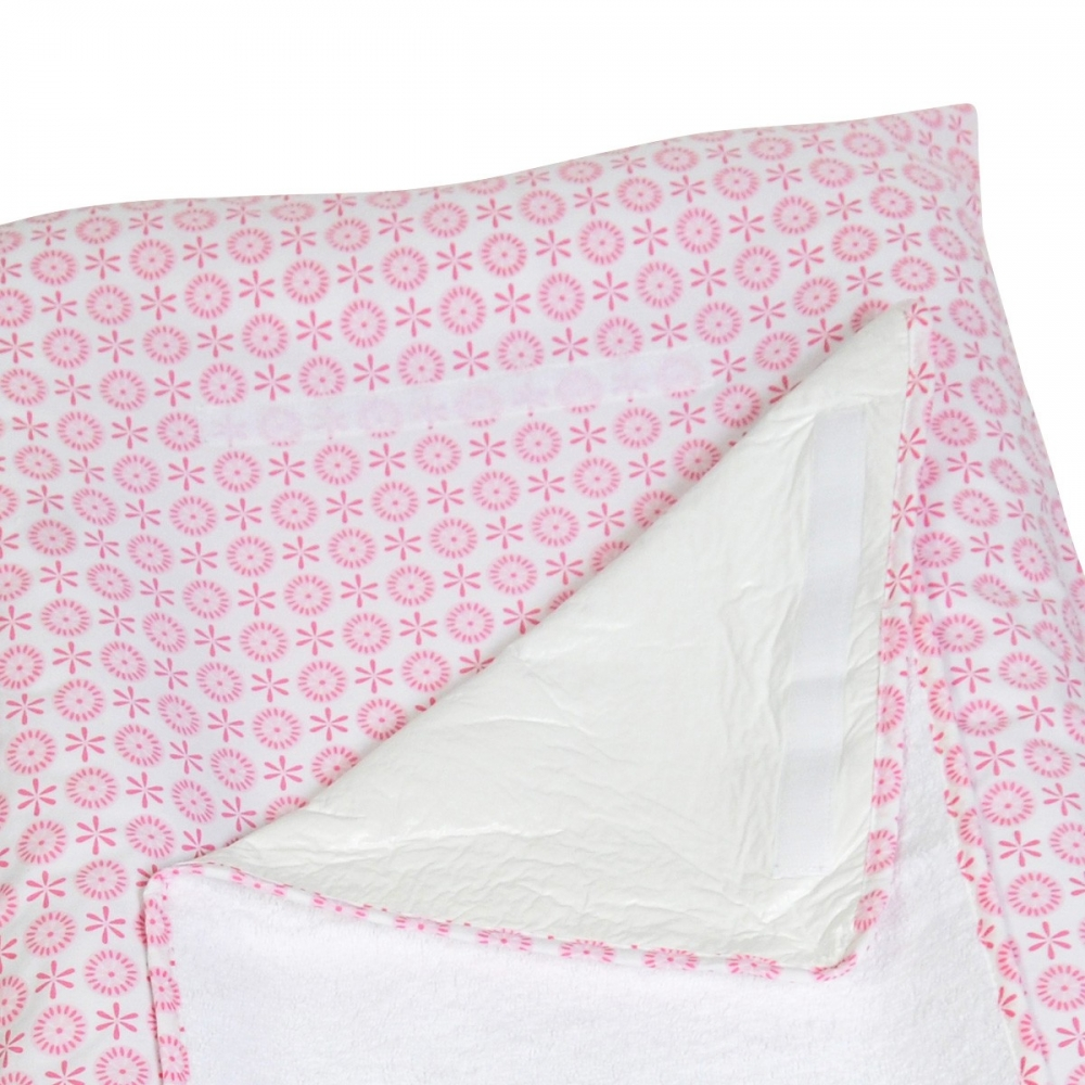 housse fleurie pour matelas langer little crevette. Black Bedroom Furniture Sets. Home Design Ideas