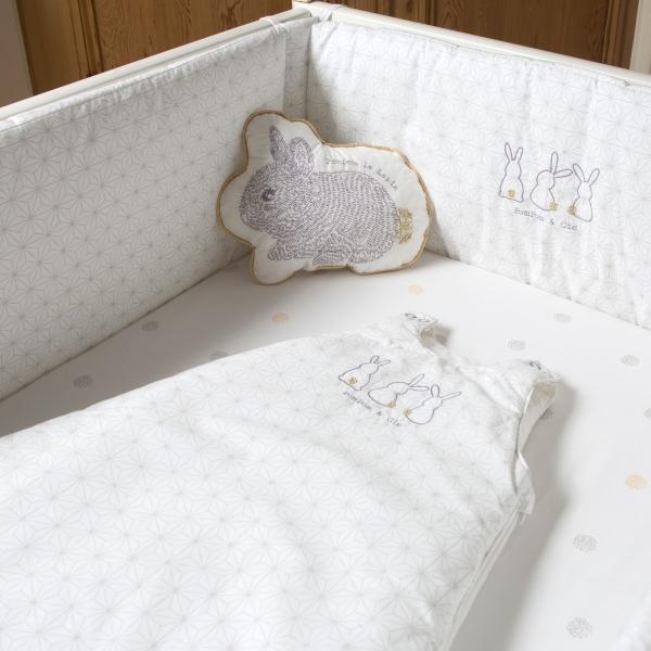 Drap-housse bébé 60x120 cm ou 70x140 cm Pompom