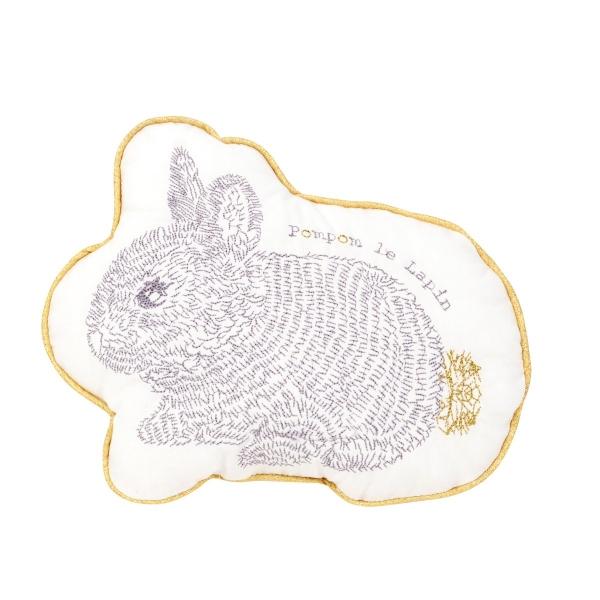 Coussin Pompom le lapin