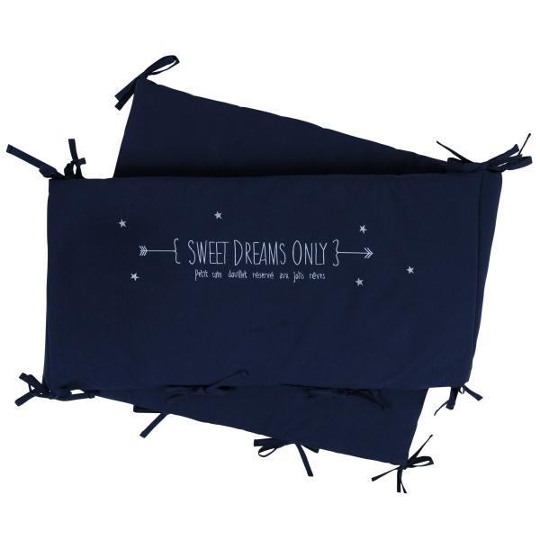 Tour de lit bleu marine Sweet Dreams