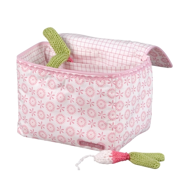 Trousse de toilette bébé fleurs roses Lovely Emilie