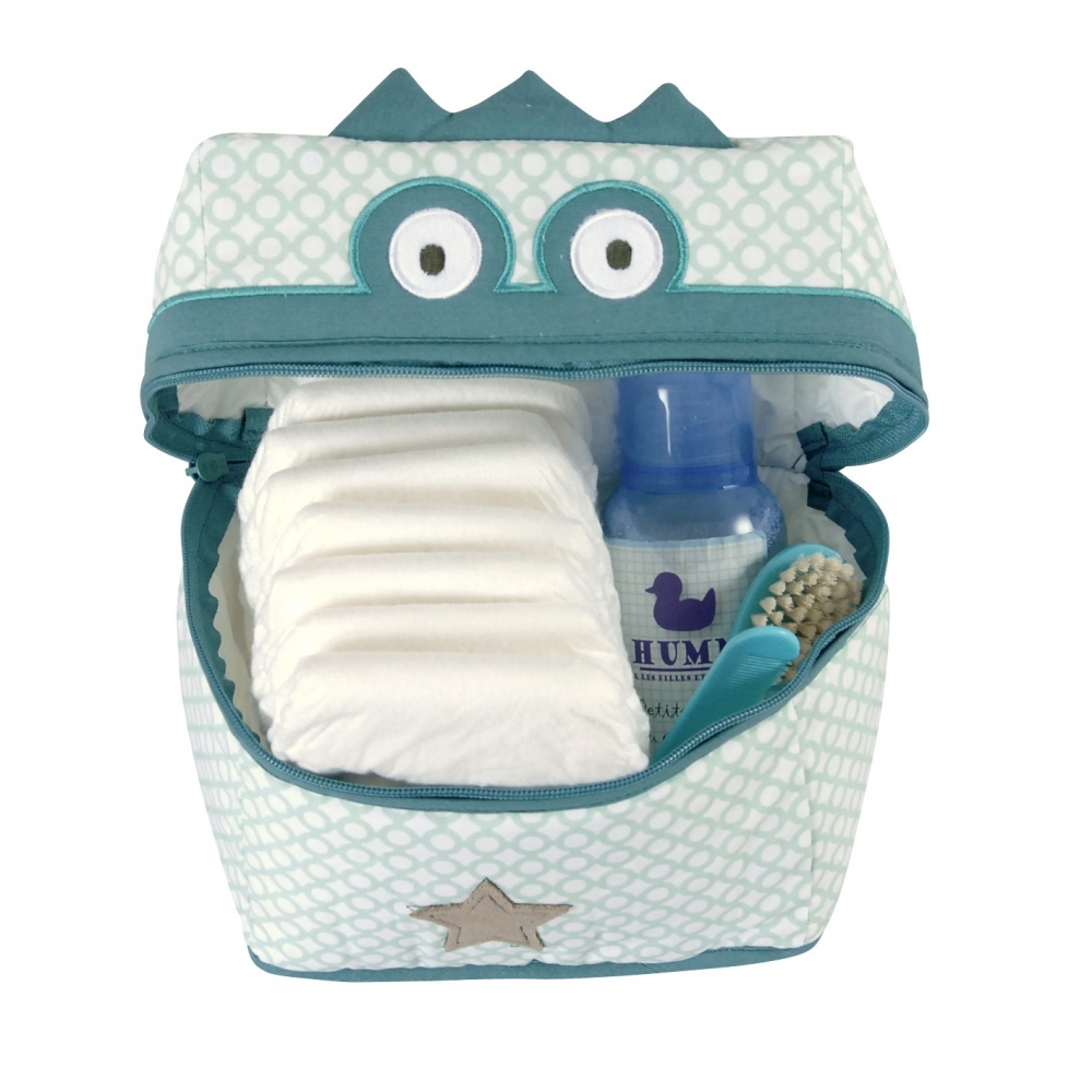 trousse de toilette b b verte crocodile little crevette