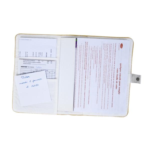Protège-carnet de santé Pompom