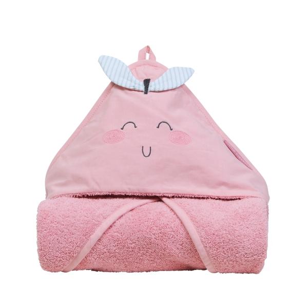 Cape de bain bébé fille Pomme d'amour