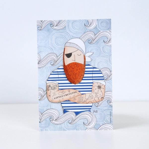 Coffret cadeau bébé original bain pirate