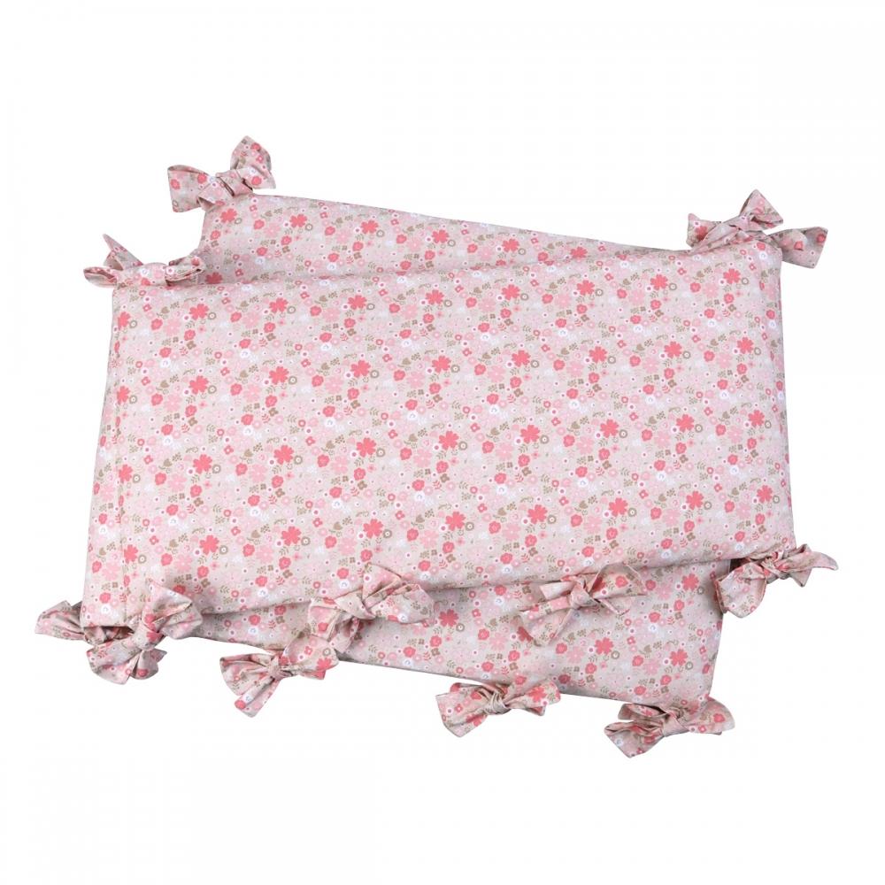Tour de lit fleurs roses Mila