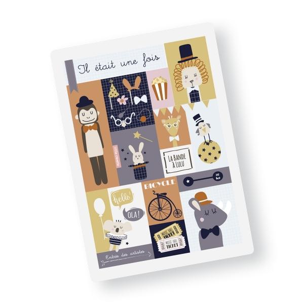 carte postale A5 lulu le lion