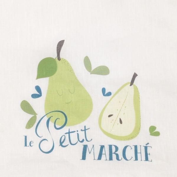 Serviette bavoir Le Petit Marché