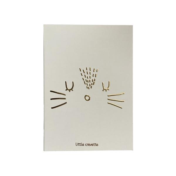 carte illustrée lapin