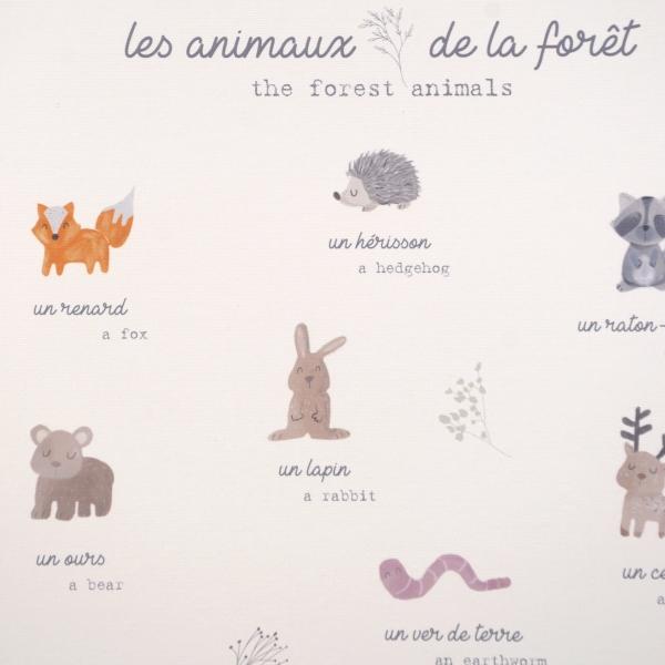 """Affiche """"Les animaux de la forêt"""""""