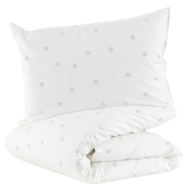 Parure de lit pois Pompom 100x140 cm