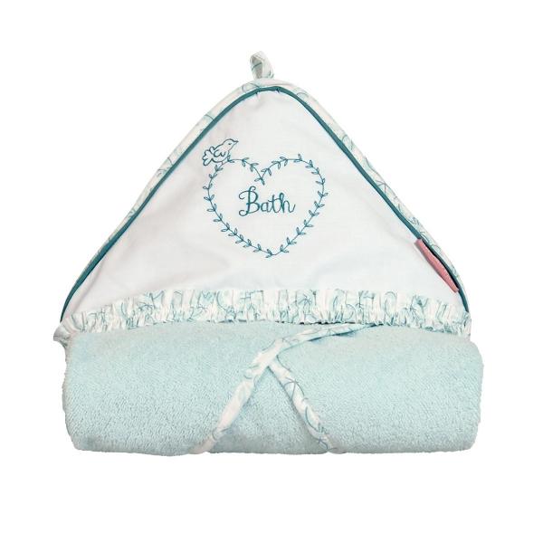cape de bain b b fille bleue garden party little crevette. Black Bedroom Furniture Sets. Home Design Ideas