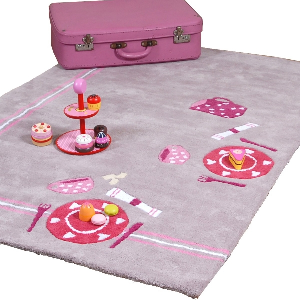 tapis enfant fille original pique nique little crevette. Black Bedroom Furniture Sets. Home Design Ideas