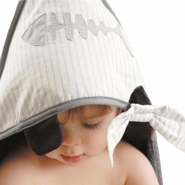 Cape de bain bébé Pirate gris foncé