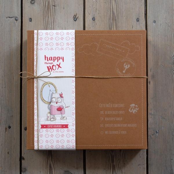 Coffret cadeau bain bébé original fille hibou rose