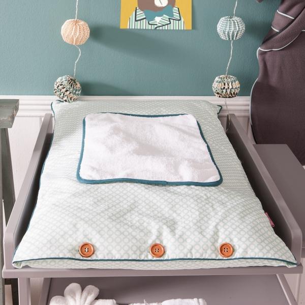 housse d corative pour matelas langer little crevette. Black Bedroom Furniture Sets. Home Design Ideas