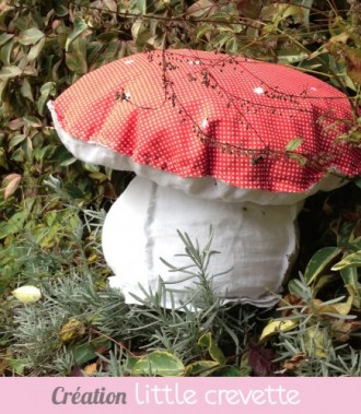 Tuto coussin champignon en tissu