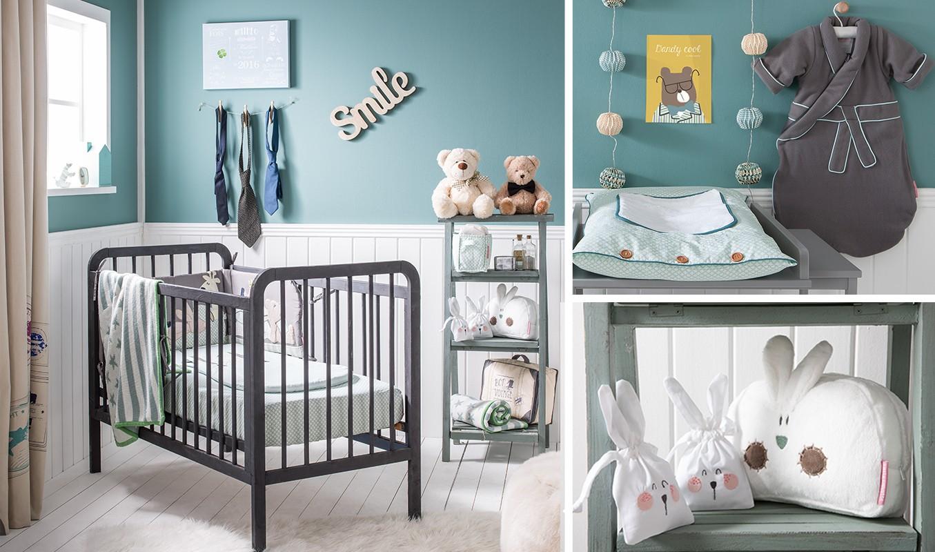 Fanion Chambre Bébé Garcon décoration de chambre bébé garçon bleue et taupe hercule